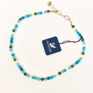 Swarovski Jewelry - Swarovski Blue and Green Crystal Beaded Necklace